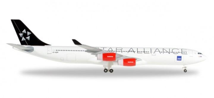 SAS Scandinavian Star Alliance A340-300 Reg# OY-KBM 528474 Herpa 1:200