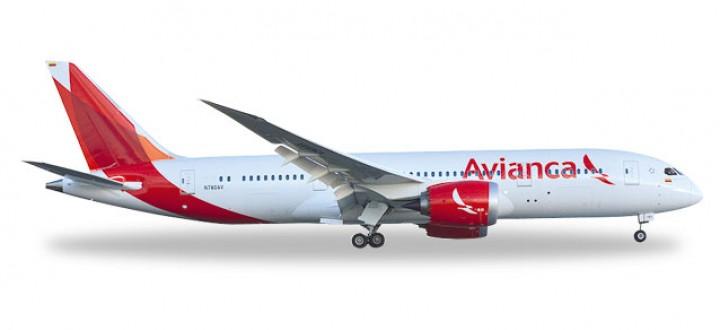 Avianca Boeing B787-8 Dreamliner Reg# N780AV Herpa 528771 Scale 1:500