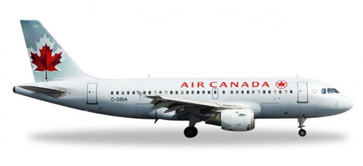 Air Canada Airbus A319 Reg# C-GBIA Herpa Wings 528795 Scale 1:500