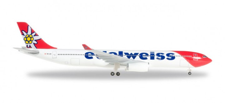 Edelweiss Airbus A330-300 2016 Livery Reg# HB-JHR Herpa 528870 Scale 1:500