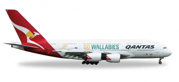 Qantas Airbus A380-800 Wallabies Reg# VH-OQH Herpa 528917 1:500