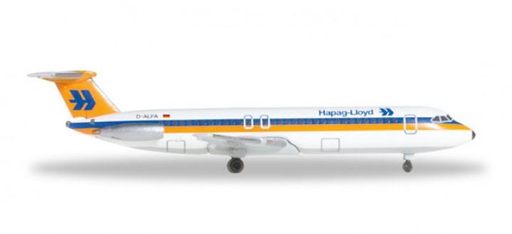 Hapag Lloyd BAC1-11-200 Reg# D-ALFA Herpa HE528955 Scale 1:500
