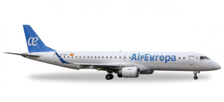 Air Europa Embraer E-195 New Livery Herpa Wings 529099 Scale 1:500