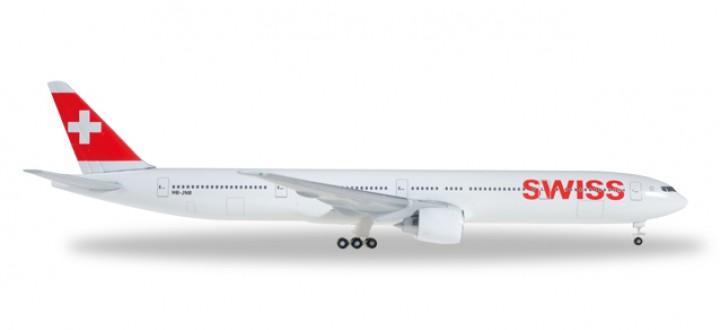 Swiss International B777-300ER Reg# HB-JNB Herpa 529136 Scale 1:500