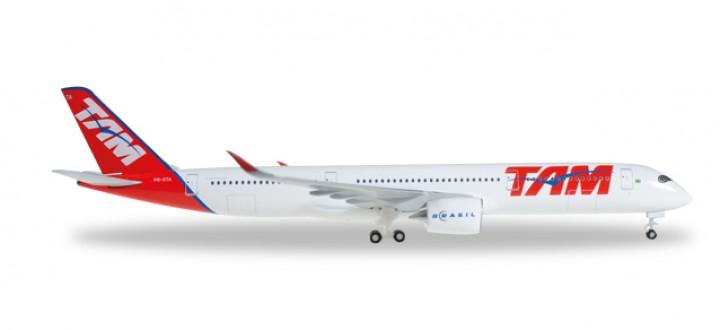 TAM Brasil A350 XWB Reg# PR-XTA Herpa 529143 Scale 1:500