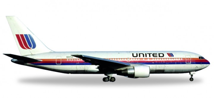 United Boeing B767-200 Saul Bass Reg# N607UA City of Denver 530187 530178  1:500
