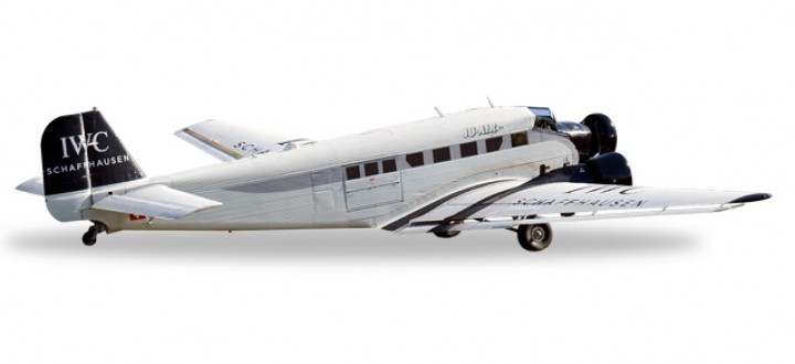 """Ju-Air Junkers Ju-52 """"IWC"""" Reg# HB-HOS Herpa Die Cast HE530194 Scale 1:500"""