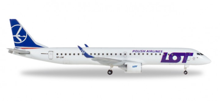 LOT Polish Airlines Embraer E-195  Reg SP-LNF Herpa 530576 Scale 1:500