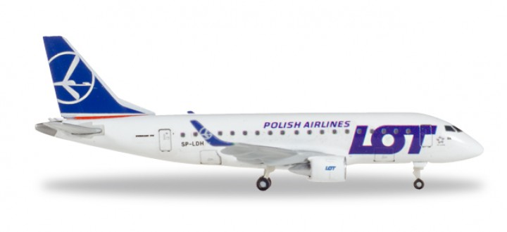 LOT Polish Airlines Embraer E-170  Reg SP-LDH Herpa 530583 Scale 1:500
