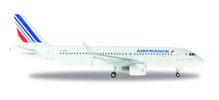 Air France Airbus A320 Sharklets Reg# F-HEPH Made of metal Herpa 530606 Scale 1:500