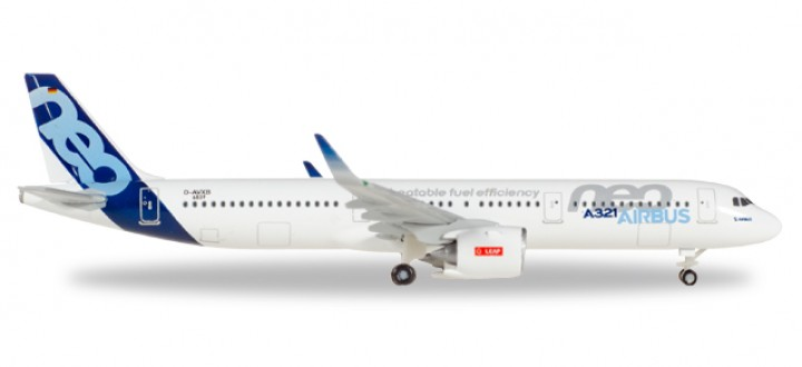 "Airbus House A321neo ""Unbeatable fuel efficiency"" Sharklets Reg# D-AVXB Herpa 530620 Scale 1:500"