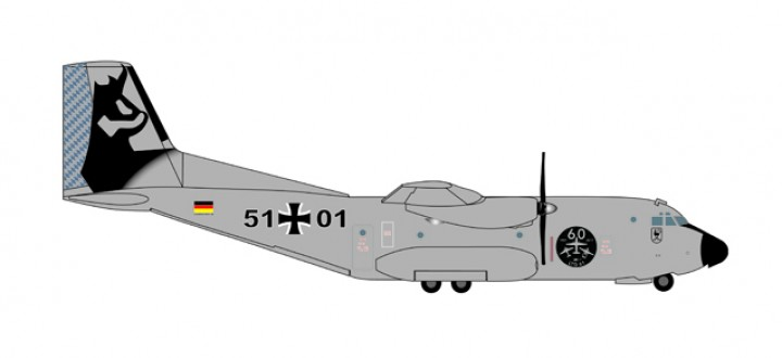 Luftwaffe C-160 Transall 51+01 60th Anniversary Herpa Wings Die-Cast 530682 Scale 1:200