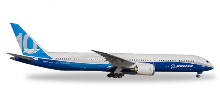First! Boeing B787-10 Dreamliner House registration N528ZC Herpa 530781 Scale 1:500