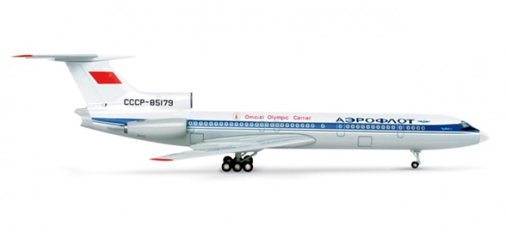 "Aeroflot Tupolev TU-154B2 ""Official Olympic Carrier, Moscow 1980""   1:200"