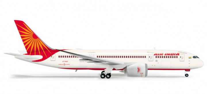 Air India Boeing 787-8 Dreamliner   HE555388  Scale 1:200