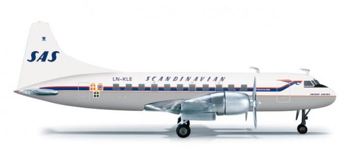 SAS-Scandinavian Airline System Convair CV-440 HE556507  Scale 1:200