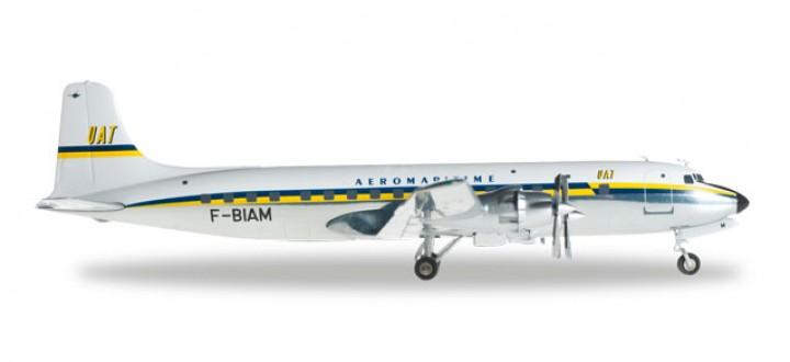 556729  UAT - Union Aéromaritime de Transport (late colors) Douglas DC-6B HE556729  scale model Herpa