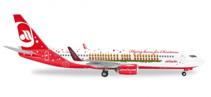 """Air Berlin Boeing 737-800 """"Flying Home for Christmas"""" D-ABMS 556811 1:500"""
