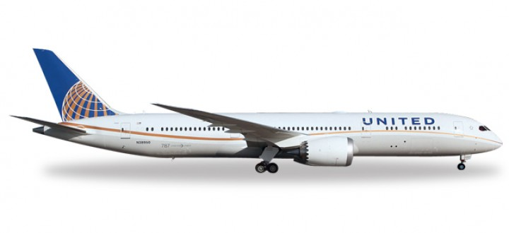 Highly detailed  Herpa Wings airliner scale model United Airlines 787-9 Dreamliner 557078 Herpa  Item: HE5557078 1:200 scale.