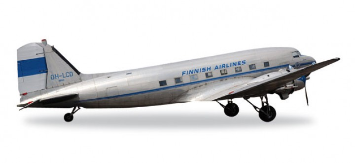 Finnish Airlines DC-3 Douglas Herpa 557108 Scale 1:200