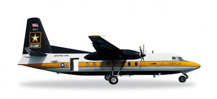US Army Parachute Team Fokker C-31A  (F-27) Golden Knights Reg# 85-1607 Herpa 557177 Scale 1:200