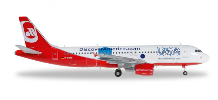 "Air Berlin Airbus A320 ""Multicultural"" Reg# D-ABNB Herpa Wings HE557306 Scale 1:200"