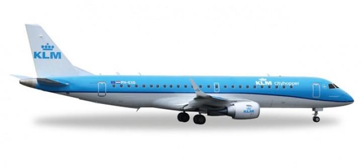 KLM Cityhopper Embraer ERJ-190 Herpa 557580 Scale 1:200