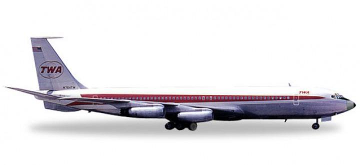 TWA Trans World Boeing 707-320 Reg# N764TW Herpa 557740 Scale 1:200