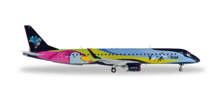"Azul Brazilian Embraer ERJ-195 Reg# PR-AXH ""Verao"" Herpa 557771 Scale 1:200"