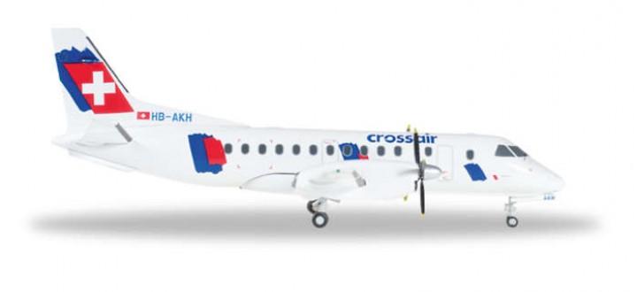 Crossair Saab -340 Reg# HB-AKH Herpa Die-Cast 557870 Scale 1:200
