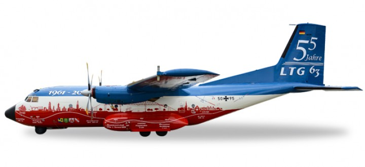 55/60 Anniversary Luftwaffe Transall C-160 LTG 63 Herpa 558068 Scale 1:200