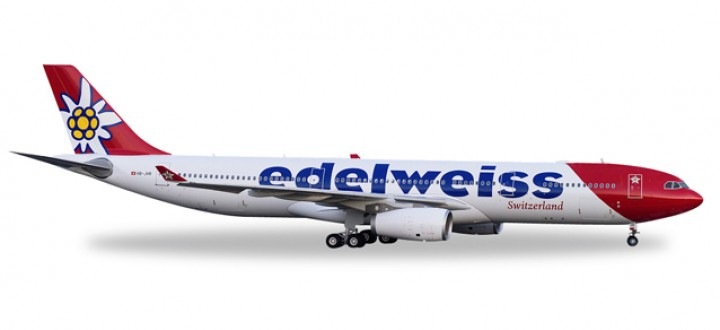 Edelweiss Switzerland Airbus A330-300 Herpa Wings 558129 Scale 1:200