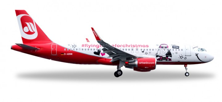 Airberlin A320 Sharklets Reg# D-ABNM Flying Home for Christmas Herpa Wings 558150 Scale 1:200