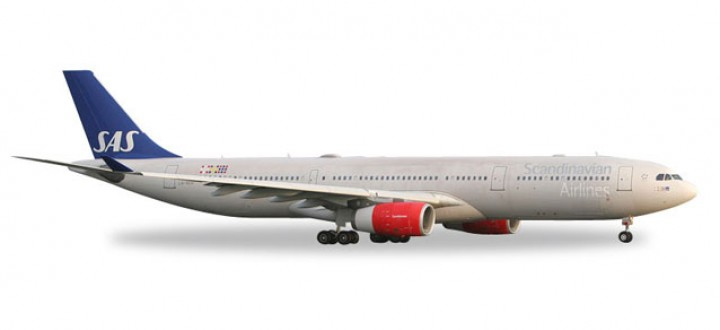"SAS Scandinavian Airbus A330-300 ""Helge Viking"" Herpa Wings 558303 Scale 1:200"
