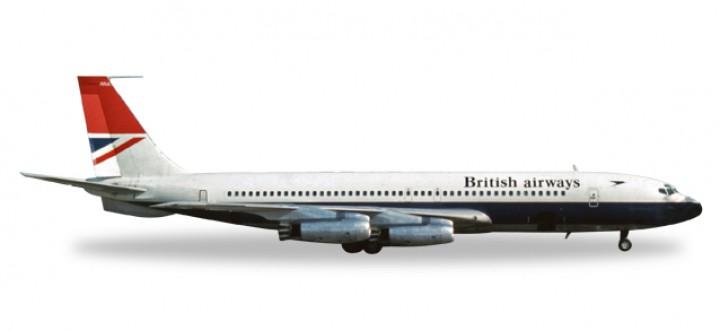 Metallic British Airways Boeing 707-400 Reg# G-ARRA 558464 Scale 1:200