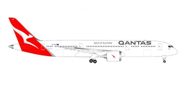 Qantas Boeing 787-9 Dreamliner registration VH-ZNA 558778 Scale 1:200