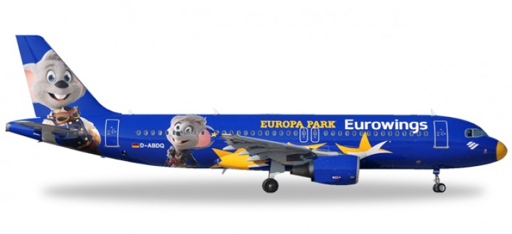 Eurowings Airbus A320 Europa Park registration D-ABDQ Herpa Wings 558808 Scale 1:200