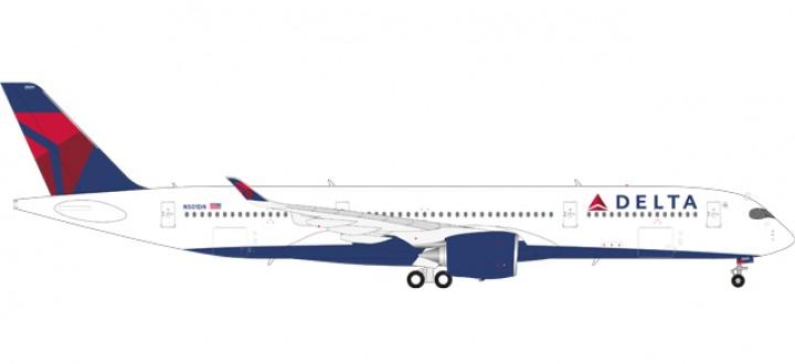 Delta Airbus A350 -900 XWB Reg# N501DN Herpa Wings 558815 Scale 1:200