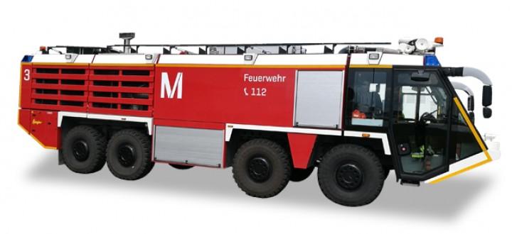Fire Engine  Munich Airport colors and logo Herpa Scenix Accessories 558853 Scale 1:200