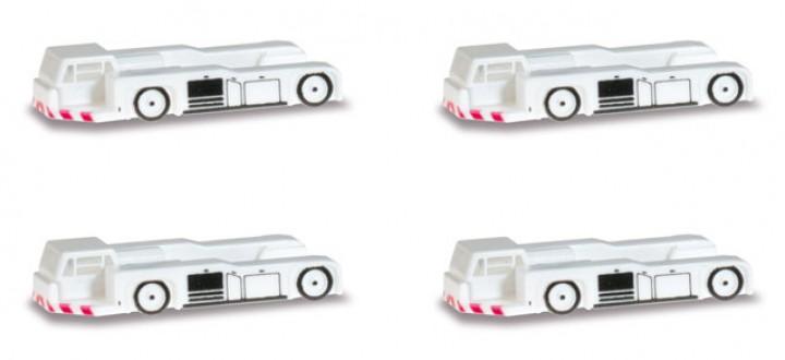 Scenix Airport Tractor Set (4 units) Airport accessories Herpa 562461 1:400