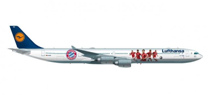 Lufthansa Airbus A340-600 Bayern FC 2016 USA Tour Reg# D-AIHK 562553 Scale 1:400