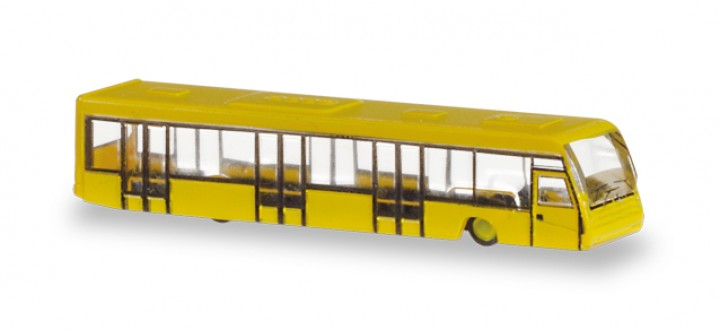 Set of 4 Airport Buses Yellow Herpa Scenix Accessories 562591 Scale 1:400