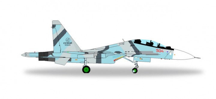 Sukhoi SU-30MKK Komsomolsk-on-Amur Plant 580090 Herpa Wings Scale 1:72