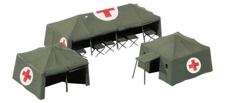 Military medical service tents 746021 Herpa diorama Scale HO 1:87