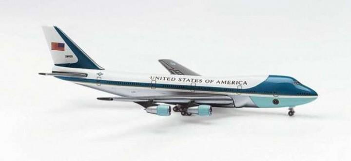 Herpa Wings Air Force One 747 200 Die Cast Model Eztoys Diecast