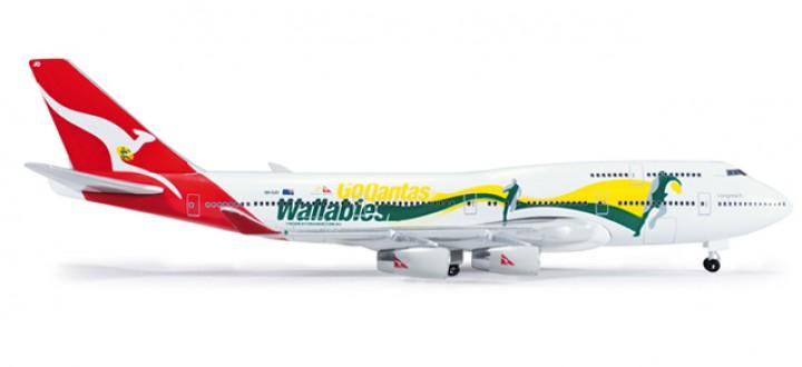 "Qantas Boeing 747-400 ""Go Wallabies"""