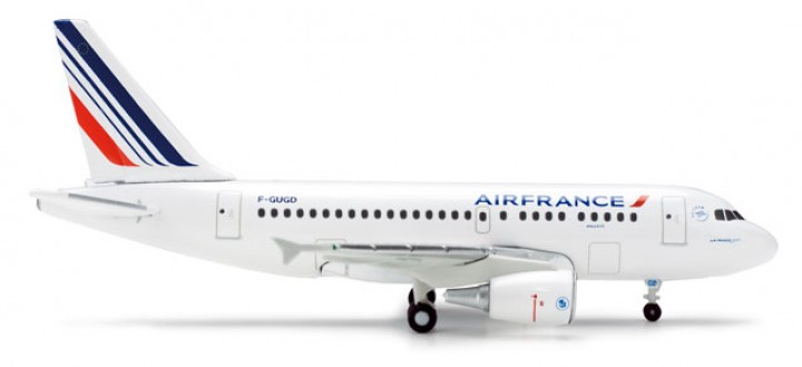 Last One! Air France Airbus A318 Reg F-GUGG Herpa 524063 Scale 1:500