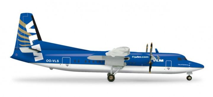 VLM Airlines Fokker 50 OO-VLS Herpa 555647 scale 1:200