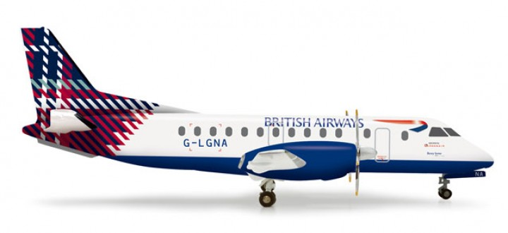 HERPA BRITISH AIRWAYS SF-340 1/200 BENYHONE TARTAN G-LGNA
