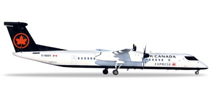 Air Canada Express Bombardier Q400 Metallic Reg# C-GGOY Herpa die-cast 559225 scale 1:200